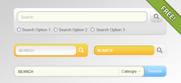 4 Designs for Search Input Field