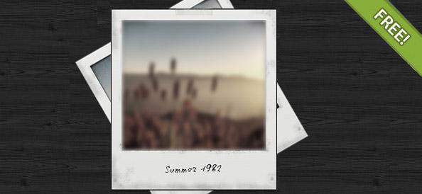 Free PSD Polaroid Photo Frame