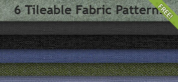 6 Free Tileable Fabric Patterns