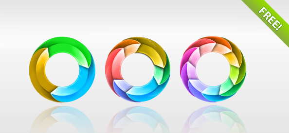 Circle Arrows PSD Pack