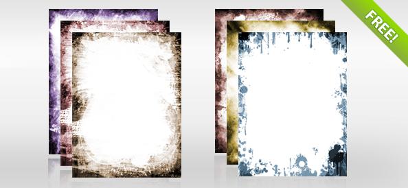 Grunge Frames PSD Set