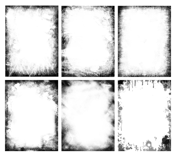 Grunge Frames PSD Set - Free PSD Files