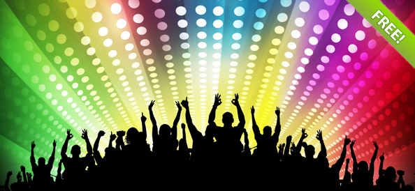Free Disco Party Backgrounds