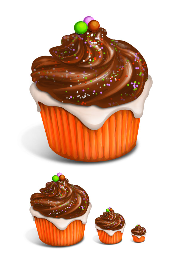 Delicious Cupcake Icons Free Psd Files