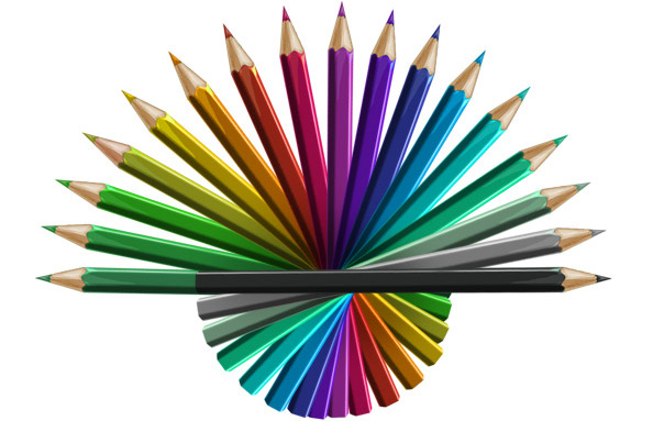 Free PSD Colored Pencils Graphics - Free PSD Files