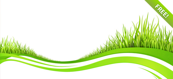 Wave Backgrounds with Grass Elements