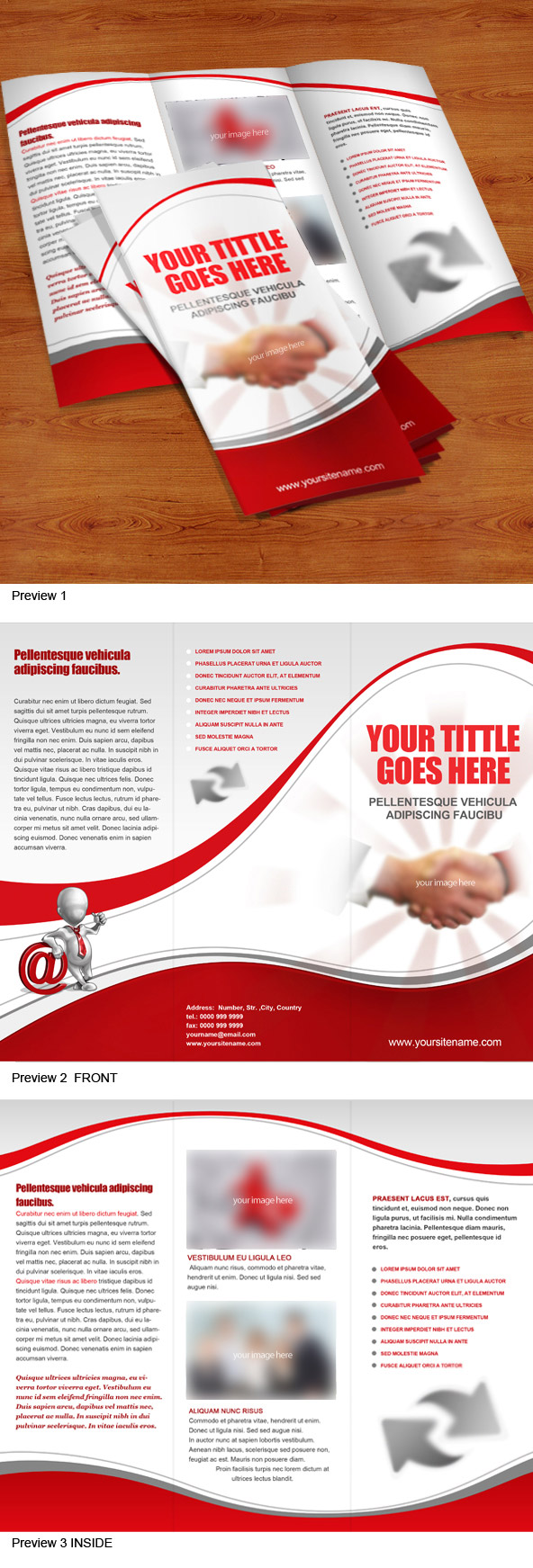 Tri fold brochure psd template free psd files for Tri fold brochure psd template