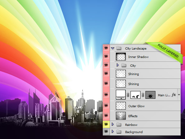 Fully Layered PSD File