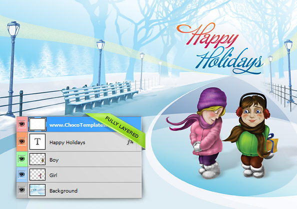christmas holiday card psd template free psd files