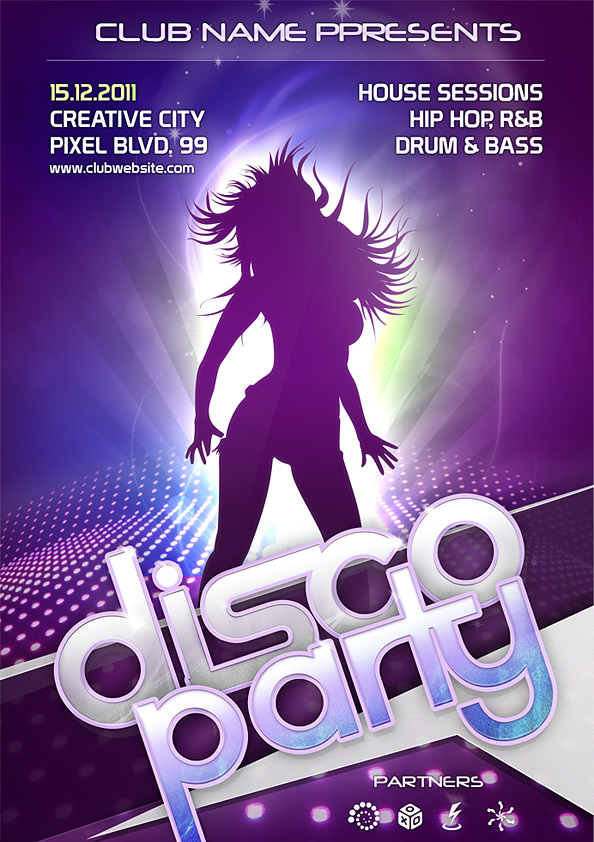 Night Club Flyer PSD Template Free PSD Files – Night Club Flyer