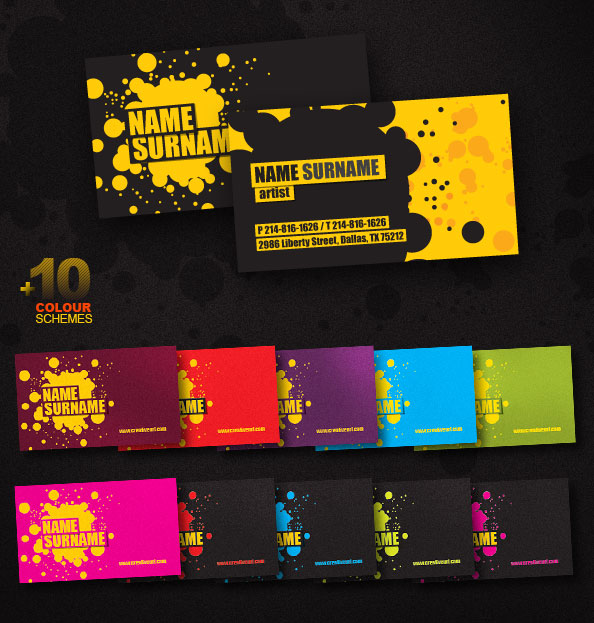 Creative business card psd template free psd files colourmoves