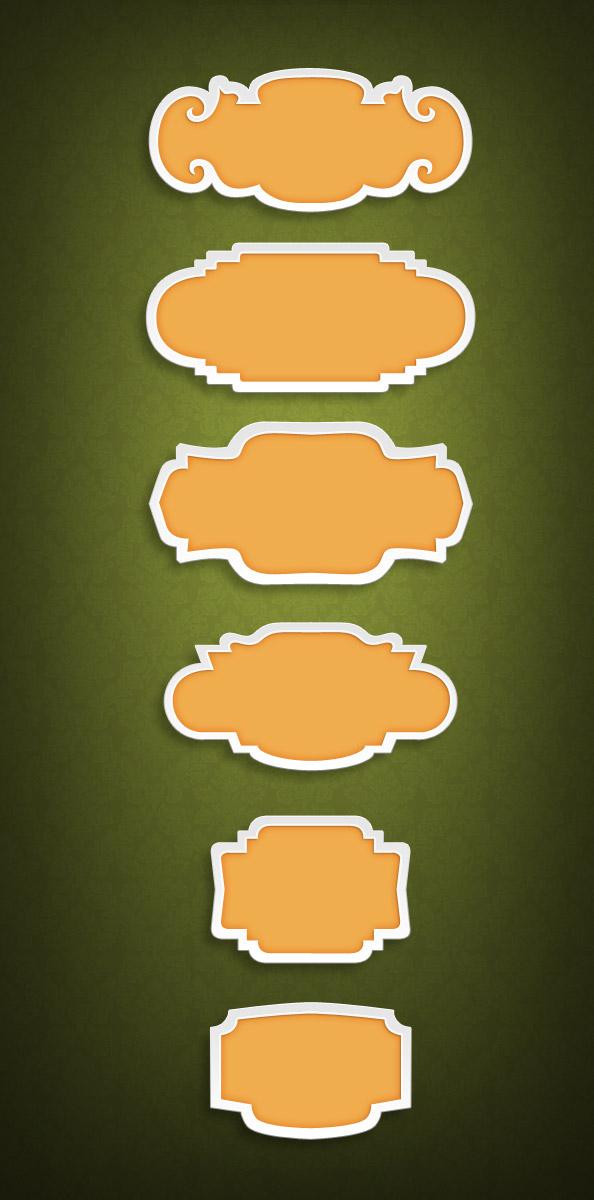 6 free psd badge templates