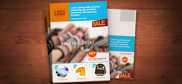 Free PSD Retail Marketing Postcard
