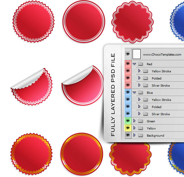 Sticker Templates Ultimate PSD Pack New Free PSD Files - Sticker layout template