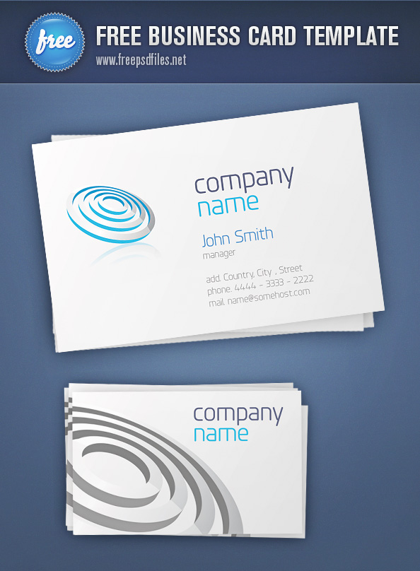 Business Card Template Free PSD Files - Template for a business card