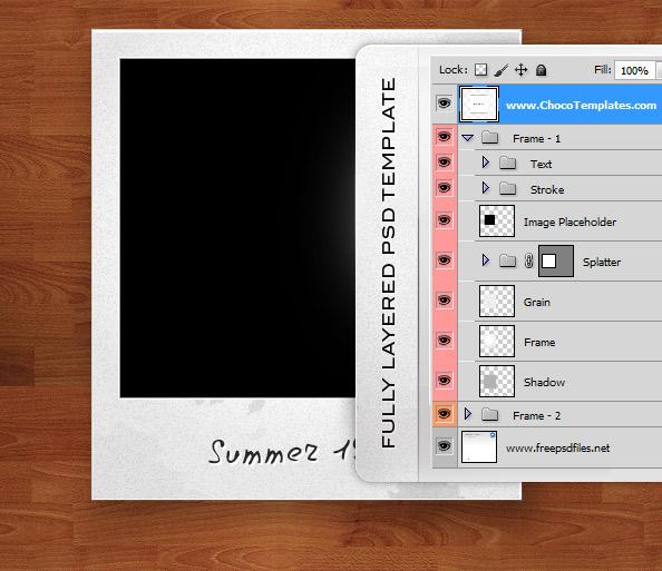 Polaroid PSD Template – Polaroid Template