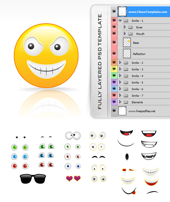 Fully Layered Smilies Creation Kit
