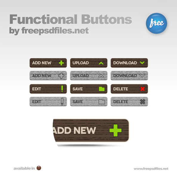 Functional PSD Buttons - Free PSD Files