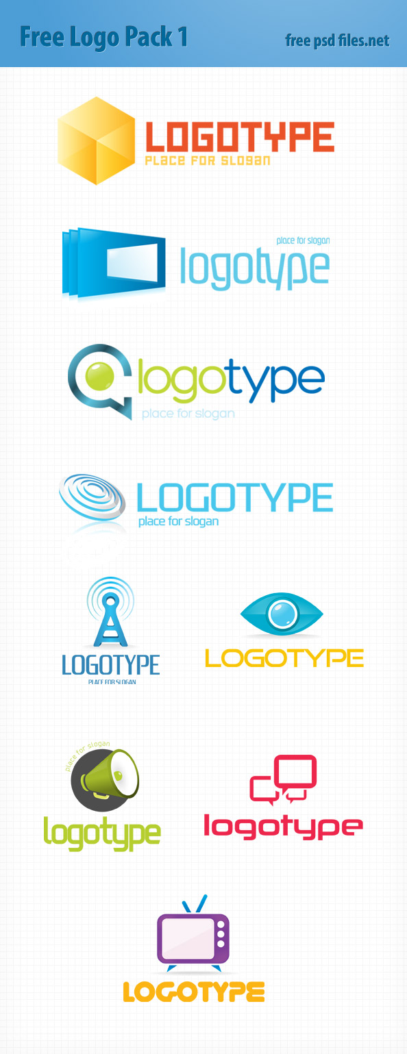 PSD Logo Design Templates Pack 1 - Free PSD Files