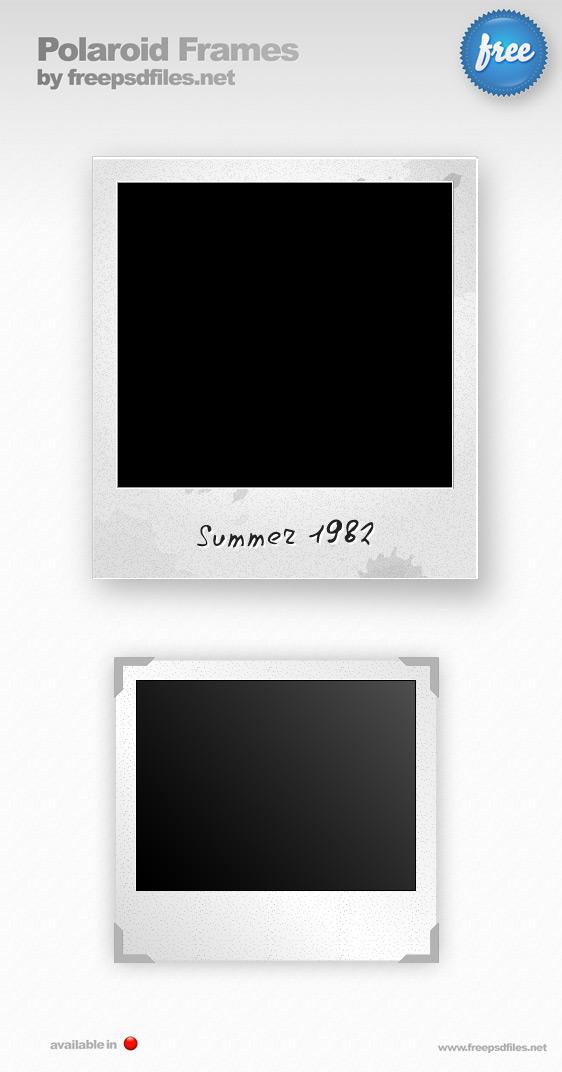 polaroid psd template