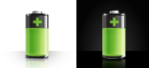 Battery Icon PSD
