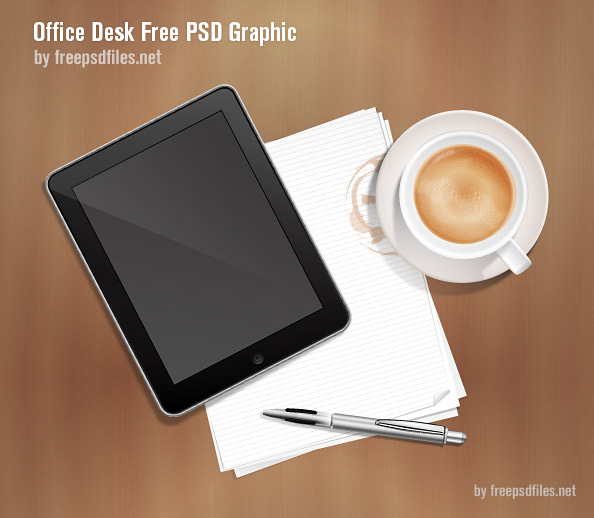 office desk psd