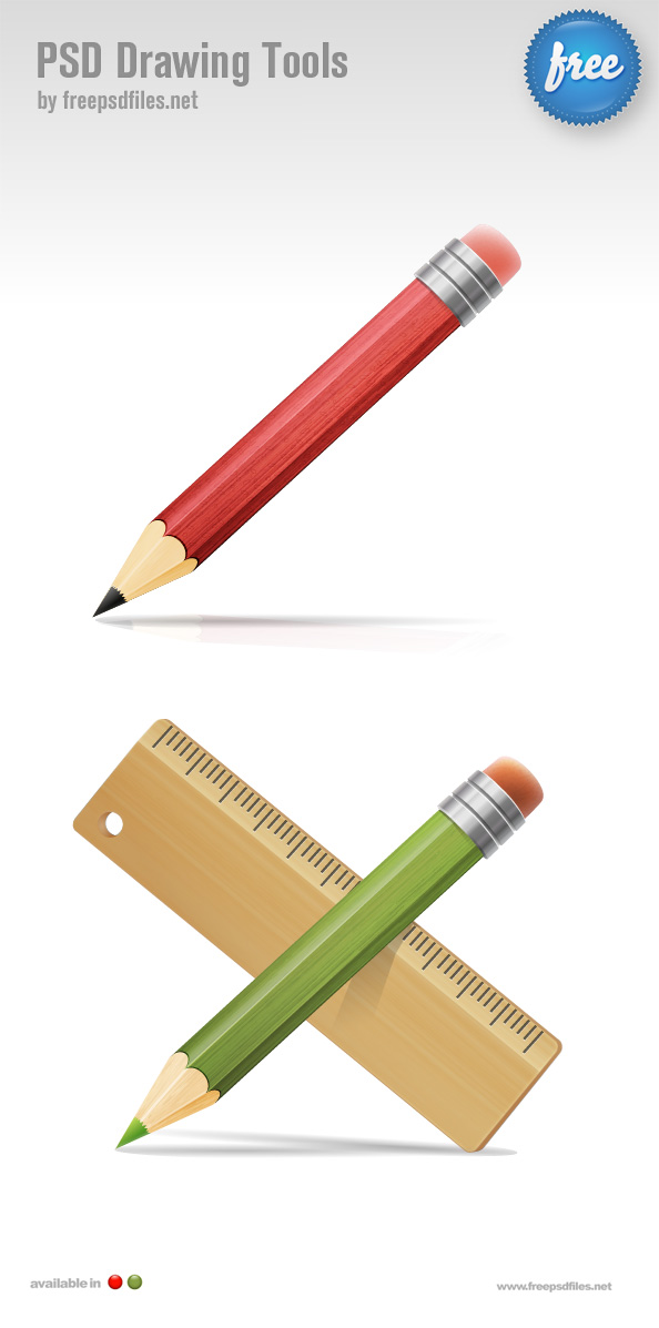 Pencil Psd Graphic Free Psd Files