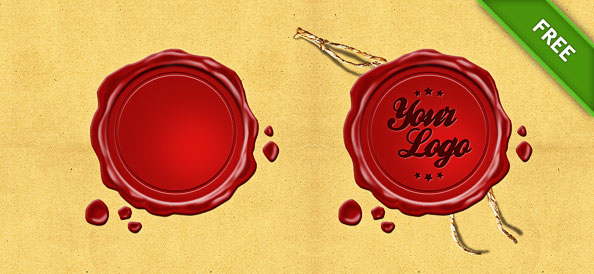 Wax Seal Stamp PSD