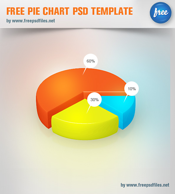 Free Pie Chart PSD Template Free PSD Files – Pie Chart Templates