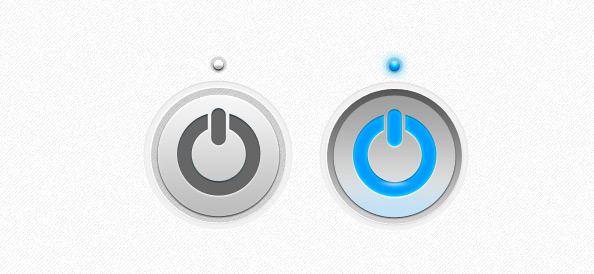Power Button PSD Template