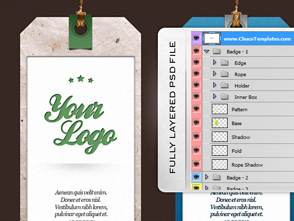 Label PSD Set 3 Tag Templates Free PSD Files – Abel Templates Psd