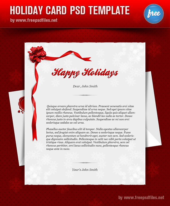 Holiday Card PSD Templates Free PSD Files – Holiday Card Template