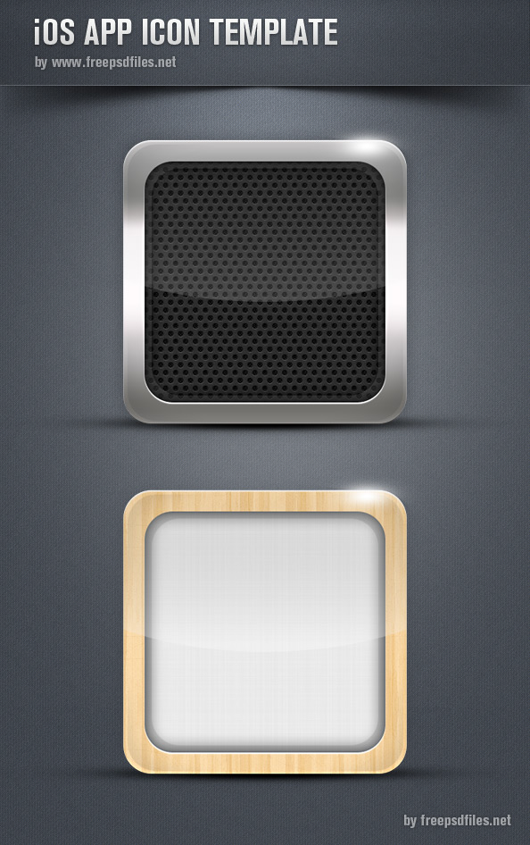 iOs App Icon Template - Free PSD Files