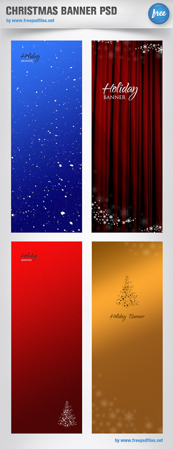christmas banner psd templates free psd files. Black Bedroom Furniture Sets. Home Design Ideas