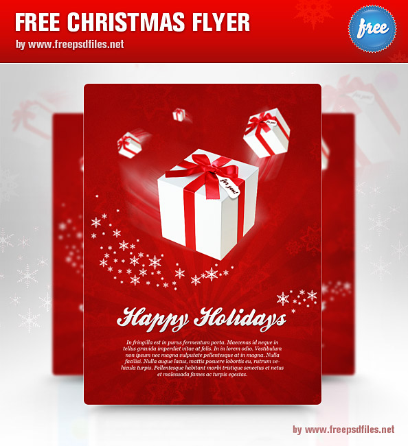 christmas flyer psd template free psd files