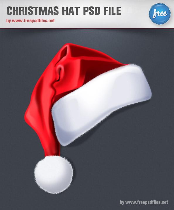 Free Psd Files: Christmas Hat PSD File