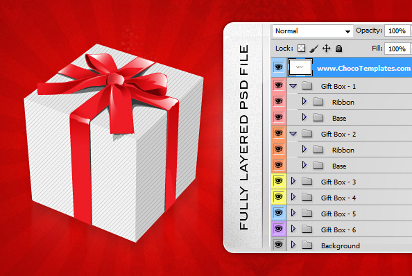 Holiday psd gift boxes free psd files negle Images