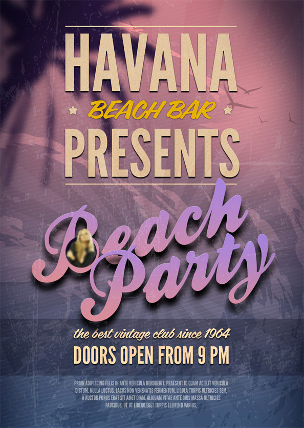 beach party psd flyer template free psd files