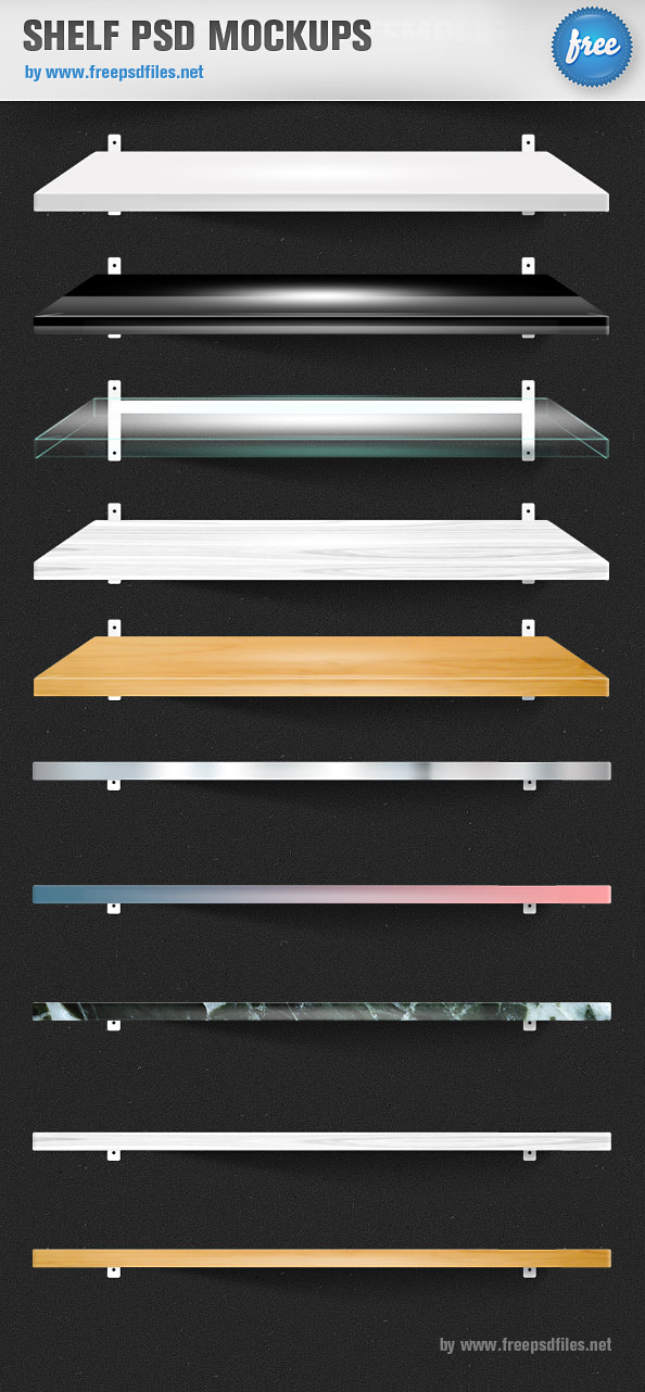 Shelf PSD Mockups Preview