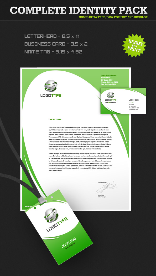 corporate identity psd pack 4 - free psd files, Powerpoint templates
