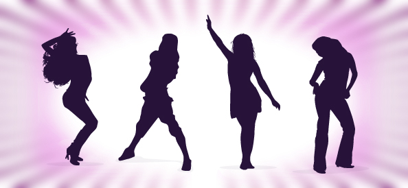 dancing girl silhouette - photo #32