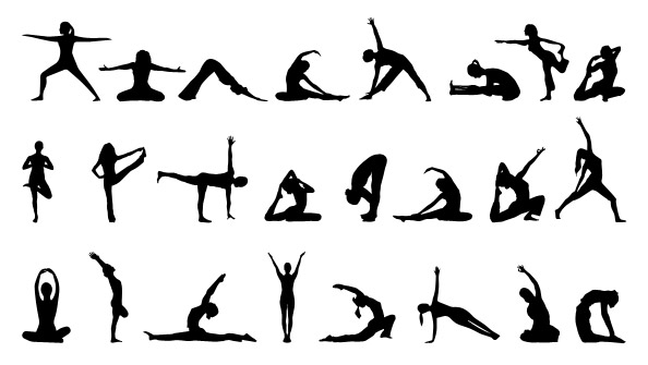 Yoga Silhouettes Set - Free PSD Files