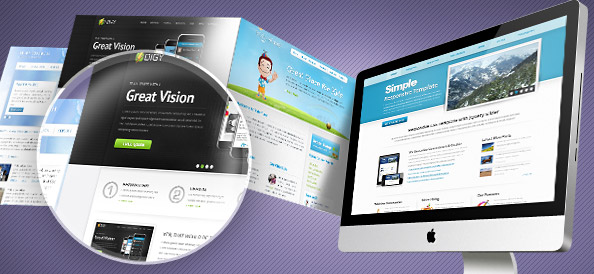 Web Showcase PSD Mockups
