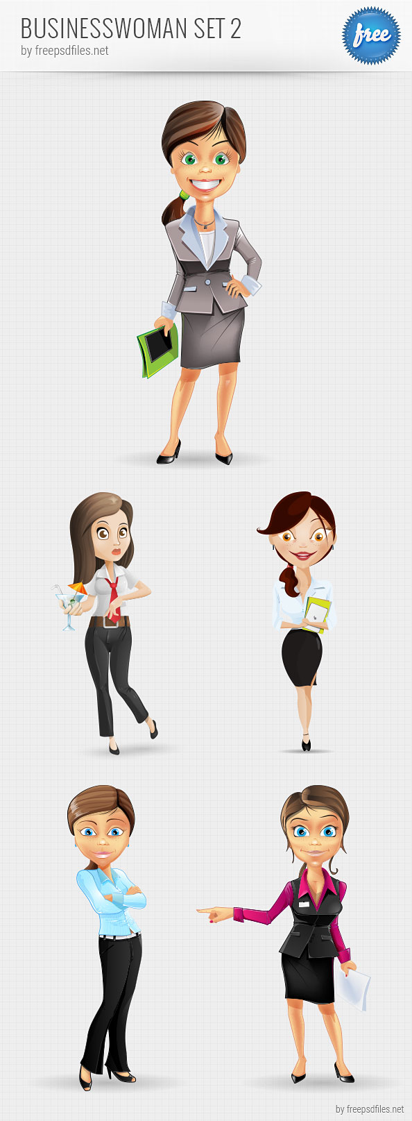 Businesswoman Vector Character