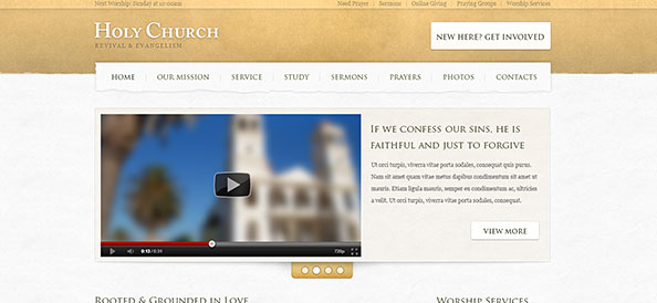 Church Website PSD Template