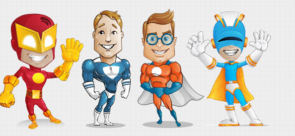 Righteous Judgment: Superhero Vector Character Set Free PSD
