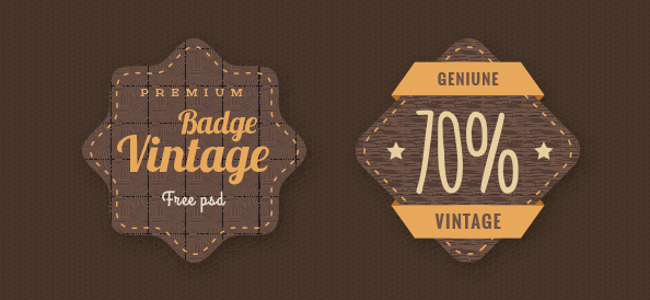 Badge PSD Template Set