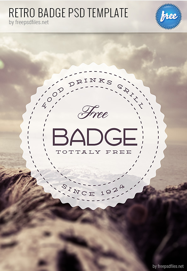 Retro Badge PSD Template Preview