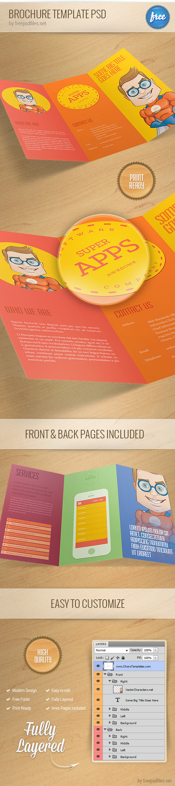 Beautiful free psd brochure design templates 2014 for Brochure design psd templates