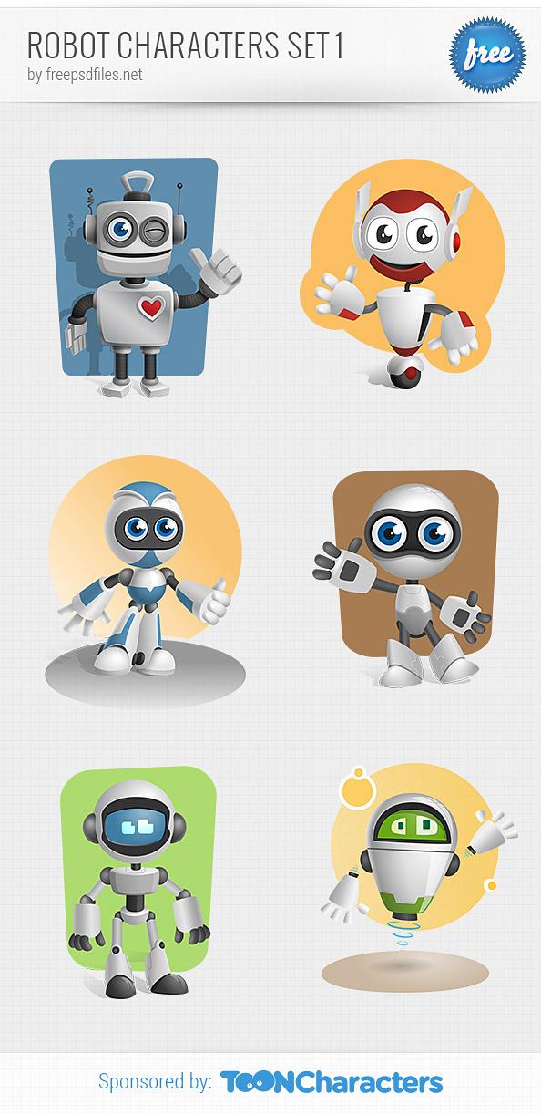Robot Vector Character Set